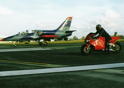 The Y2K, from a Standing Start, Races a Plane…The Bike Won