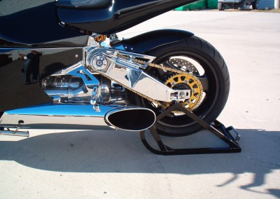 REAR SWINGARM AND WHEEL