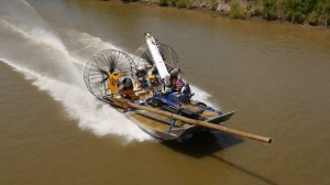 MTT Turbine Powered Airboats for Sensitive Wetland Work – MTT Turbine Airboat with 8 Ton Payload Capability on Open Water - www.marineturbine.com